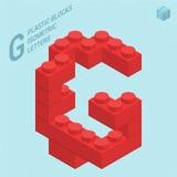Plastic blocs letter G Royalty Free Stock Photos