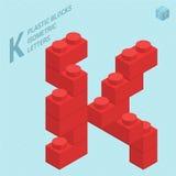 Plastic blocs  letter J Stock Images