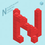 Plastic blocs  letter N Royalty Free Stock Photography