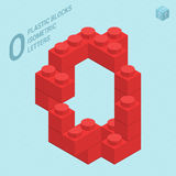 Plastic blocs  letter O Royalty Free Stock Photos