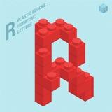 Plastic blocs  letter R Stock Images