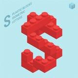 Plastic blocs letter S Stock Image
