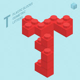 Plastic blocs letter T Stock Photo