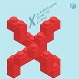 Plastic blocs letter X Stock Image