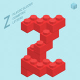 Plastic blocs letter Z Royalty Free Stock Photography