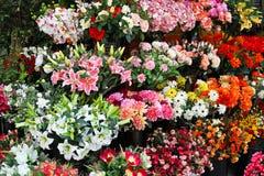 Plastic bloemen Royalty-vrije Stock Afbeelding