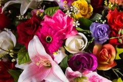 Plastic bloemen stock afbeelding