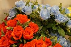 Plastic bloemen in het bloemfestival Royalty-vrije Stock Afbeeldingen
