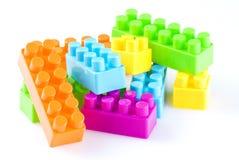 Plastic blokken Stock Fotografie