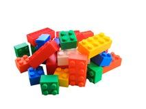Plastic blokken Stock Afbeeldingen