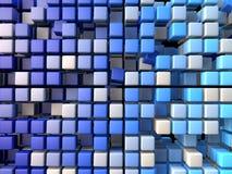 Plastic blucubes background. Plastic blu 3d cubes background Stock Photography