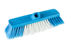 Broom without stick blue plastic Royalty Free Stock Images