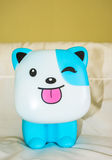 Plastic blue dog toy royalty free stock image