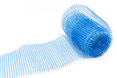 Plastic blue grid for plaster Stock Photo