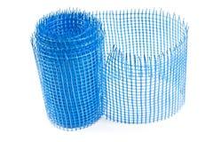 Plastic blue grid for plaster Stock Photo