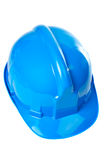 Plastic blue hard hat Stock Image