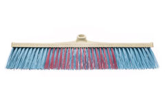 Plastic blue and red broom without stick Royalty Free Stock Image