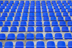 Plastic blue seats Royalty Free Stock Photos