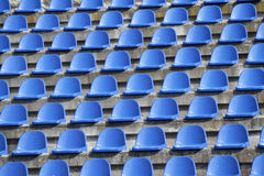 Plastic blue seats Royalty Free Stock Images