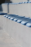 Plastic Blue Seats On Football Stadium Stock Images