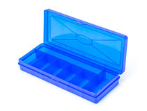 Plastic Blue Storage Box Royalty Free Stock Images