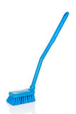 Plastic blue toilet brush Stock Images