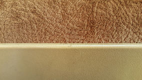 Plastic board over soft velvet fabric in light brown color Stock Photo