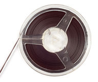 Plastic bobbin with magnetic tape Royalty Free Stock Photos