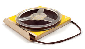Plastic bobbin with magnetic tape Royalty Free Stock Image
