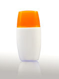 Plastic bodylotion bottle Royalty Free Stock Images