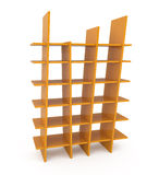 Plastic Bookshelf isolated on white Royalty Free Stock Photos