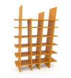 Plastic Bookshelf isolated on white. 3d illustration Royalty Free Stock Photos