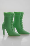 Plastic boots for your doll Royalty Free Stock Photos