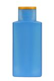 Plastic bottle. For sunscreen, lotion, soap, shampoo, etc. Isolated on white. Clipping path included Stock Photo