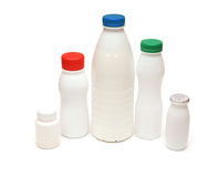 Plastic bottle. Group of plastic bottles isolated on white Stock Image