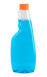 Plastic bottle. With blue liquid isolated on white background Stock Images