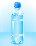 Plastic bottle. Vector plastic bottle filled with blue water Stock Photo