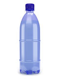 Plastic bottle. Blue plastic bottle on white background Stock Photo