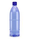 Plastic bottle. Blue plastic bottle on white background royalty free illustration