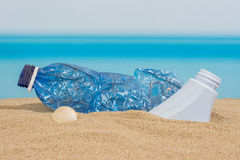 Plastic bottle on the Stock Images
