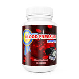 Plastic Bottle for Blood Pressure Support Pills. 3d Rendering Stock Photography