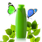 Plastic bottle and butterfly Royalty Free Stock Photography