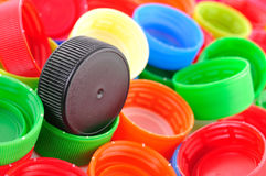 Plastic bottle caps Royalty Free Stock Photos