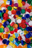 Plastic bottle caps Stock Image