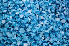 Free Plastic Bottle Caps Background. Recycling Collection And Production Processing Plastic Bottle Caps Royalty Free Stock Images - 170763999