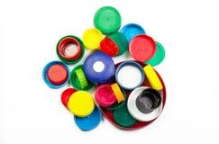 Plastic bottle caps Stock Photos