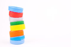 Plastic bottle caps Royalty Free Stock Photography