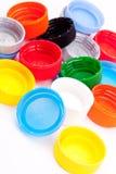Plastic bottle caps Stock Image