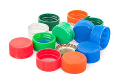 Plastic bottle caps Royalty Free Stock Image