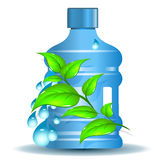 Plastic bottle with clean drinking water Stock Photo